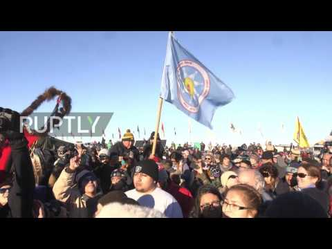 USA: Protesters celebrate after Army denies Dakota Access pipeline permit