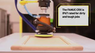 Sanding a cabinet door with a FANUC Cobot