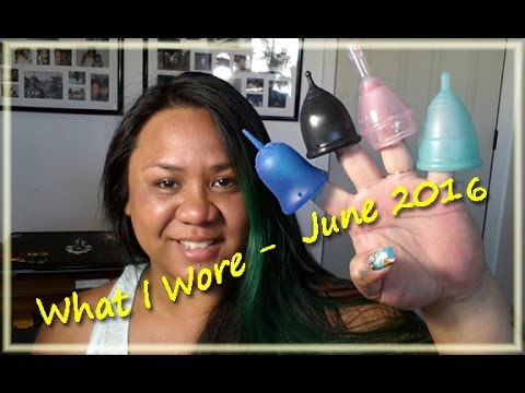 What I Wore: June 2016 - Menstrual Cups