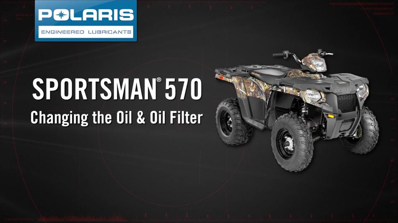 Polaris Sportsman Oil Change - Polaris Off Road Vehicles - YouTube