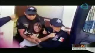 VIDEO: Interpol se lleva a una estudiante de telesecundaria en Guanajuato