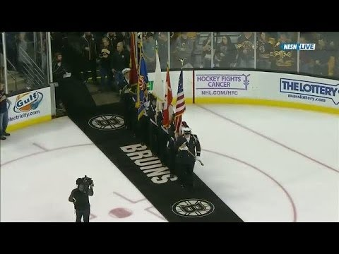 Rene Rancourt sings 'O Canada' at TD Garden