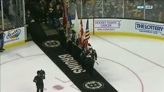 "Rene Rancourt sings ""O Canada"" at TD Garden"