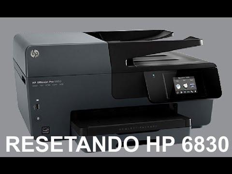 Como resetar HP Officejet Pro 6830