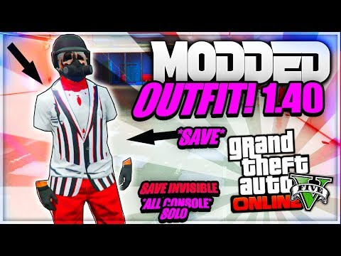GTA 5 ONLINE *MODDED OUTFITS WITH INVISIBLE ARM(STICK)* USING CLOTHING GLITCHES 1.40 (GTA 5 OUTFITS)