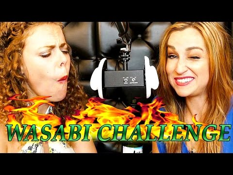 ASMR Eating Wasabi Peas & Sake Challenge, Whisper Ear to Ear Binaural Crunchy Mouth Sounds