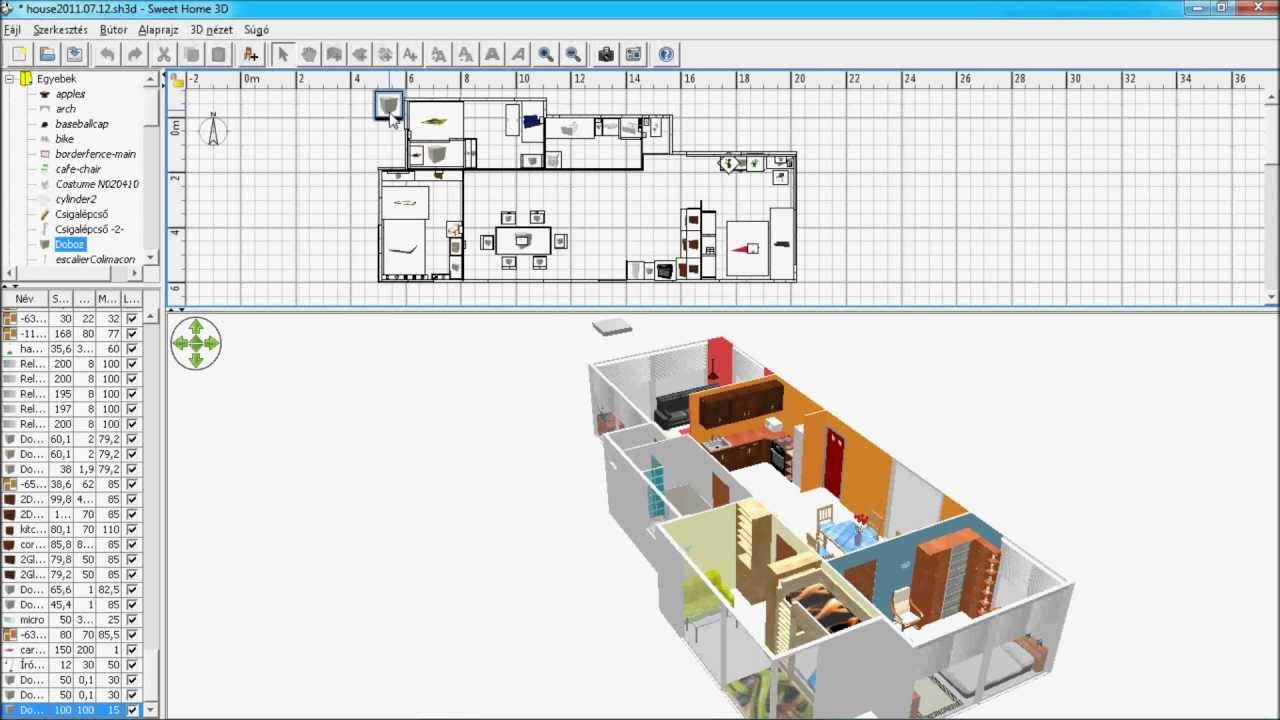 Sweet home 3d floor construction youtube for Logiciel plan maison sweet home 3d