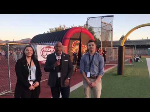 HSPN WEST CORRESPONDENTS - KATHRYN GALLO & NATHAN NUNEZ- LIVE HIGH SCHOOL FOOTBALL BROADCAST