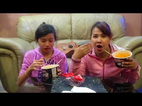 Spicy Korean Noodle Challenge || ft. mama