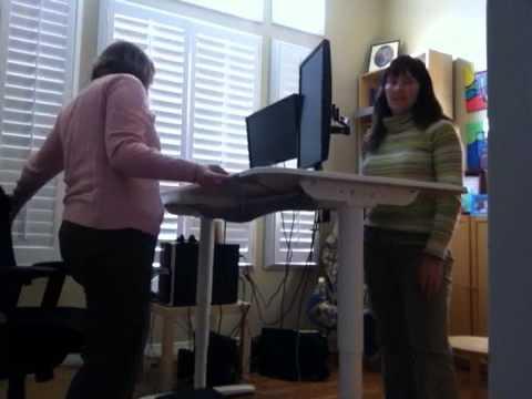 karens sit stand desk bekant desk sit stand screen