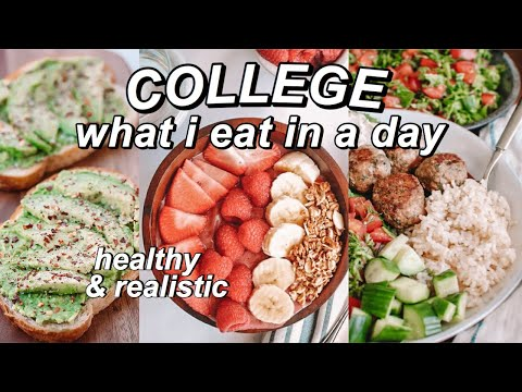 college what I eat in a day *healthy & realistic* thumbnail