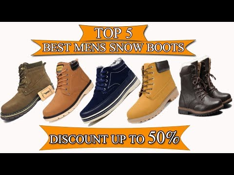 Top 5  best snow boots for men