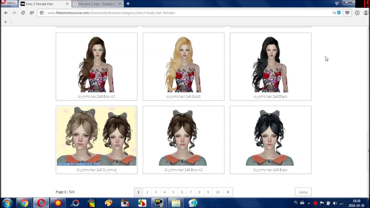 The Sims 2 Jak Pobieram Włosy Do Gry