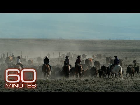 60 Minutes rides along on the longest-running cattle drive left in America