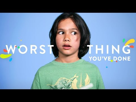 What's the Worst Thing You've Ever Done? | 100 Kids | HiHo Kids