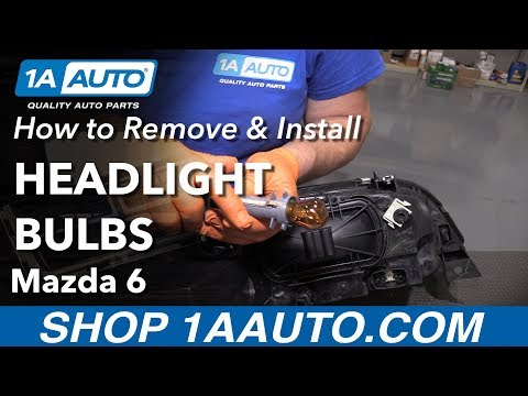 How to Replace Headlight Bulbs 02-07 Mazda 6