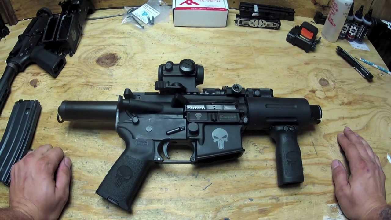 Classic Army CA100M Full Metal M4 Pistol Airsoft AEG - Black ...