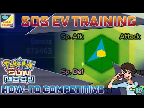 EV Training SOS Method | Pokémon Sun & Moon How-To Competitive Part 03 | SweetBananaGaming