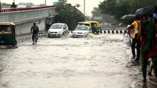 Rain causes massive waterlogging in New Delhi