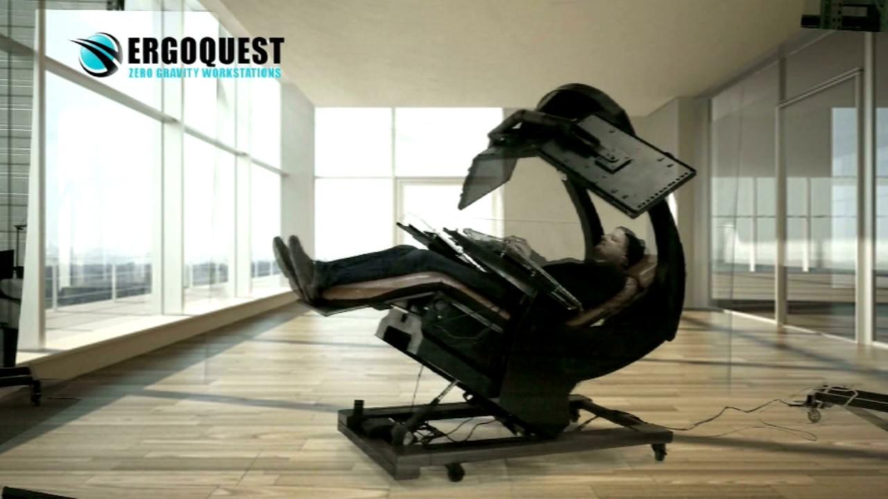 Ultimate Computer Chair Wingback Tufted Ergoquest Zero Gravity Workstation - Youtube