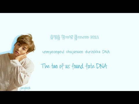 BTS DNA Lyrics (Han|Rom|Eng) Color Coded