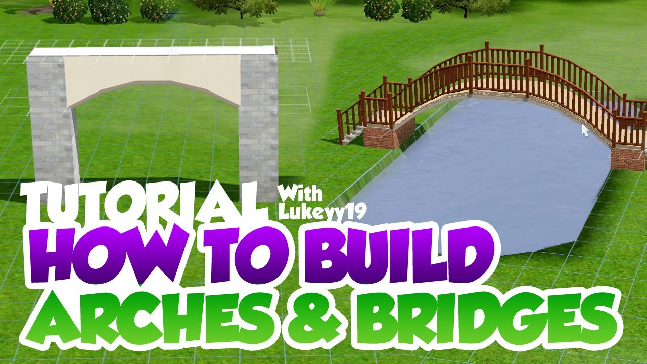 The Sims 3 - Tutorial - Arches & Curved Bridges - YouTube