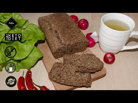 Caraway & Flax Seed Bread with Almond Flour (Paleo Dark