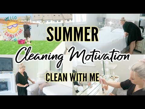 CLEAN WITH ME SUMMER 2019 ☀️ | SUMMER CLEANING MOTIVATION | POWER HOUR | ELLIS SARA SMITH