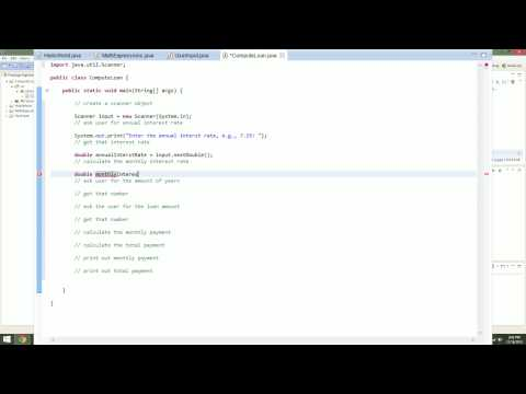 Java: Compute Loan w/ User Input [TUTORIAL] (Eclipse)