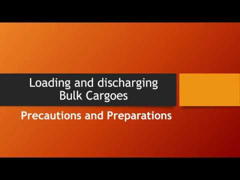 Loading and discharging bulk cargoes - Cargo Work on ships