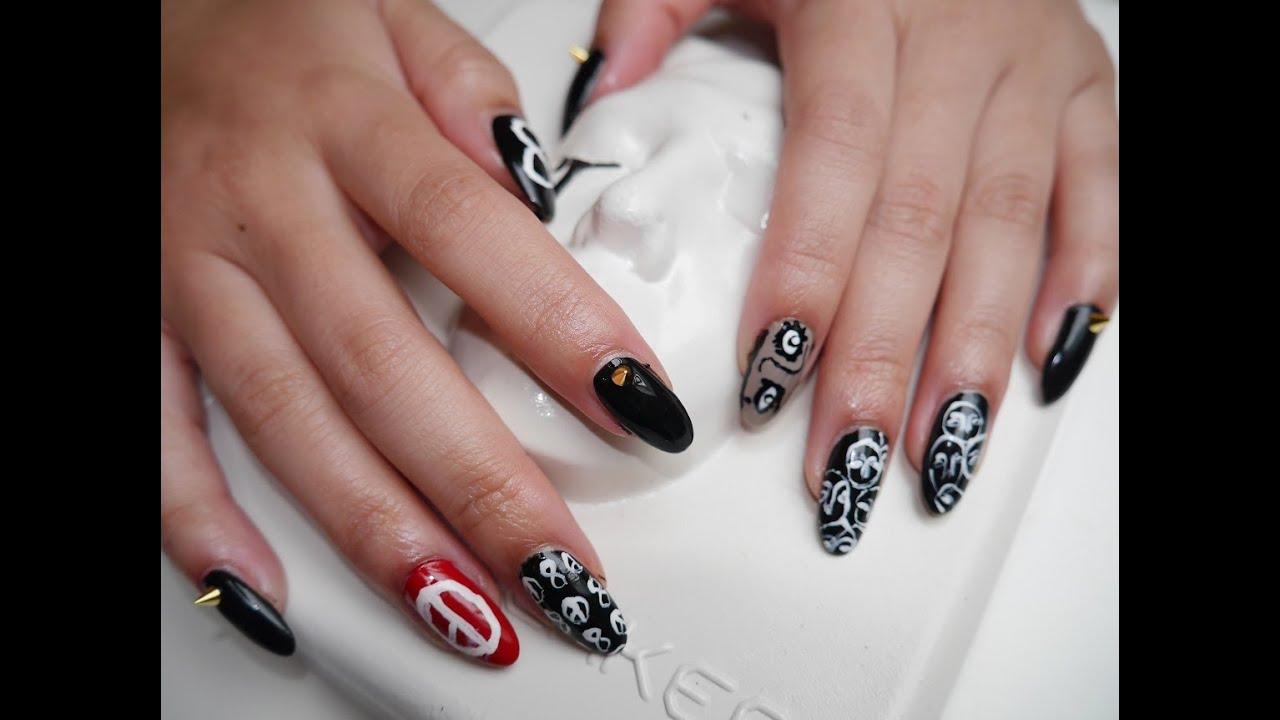 Kpop nails: G-Dragon - Coup d\'etat inspired - YouTube