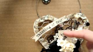 Wild Orchid Crafts Design Team Project - Hanging Chicken Wire Hearts