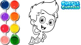 How to Draw & Color the Bubble Guppies | Drawing on & New Learning 4 Kids | Toddlers Learn Colors