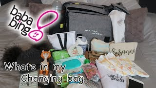 WHATS IN MY CHANGING BAG / DIAPER BAG / NAPPY BAG / BABABING CHANGING BAG / DAY TRIPPER CITY DELUX