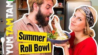 Wir packen den SOMMER in eine BOWL  // Summer Roll Bowl // #yumtamtam