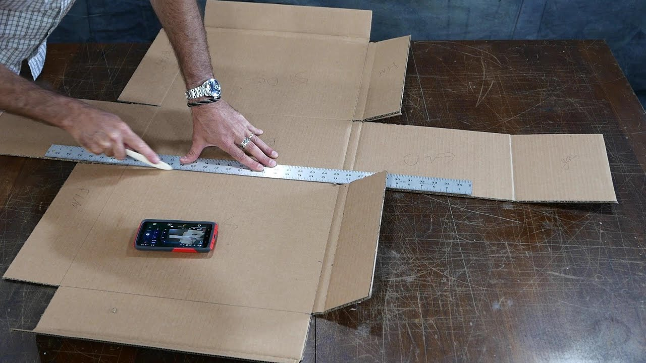 I Make A Custom Cardboard Box For Shipping Youtube