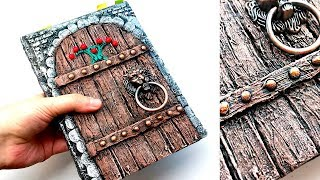 DIY notebook decoration idea | Сardboard door imitation
