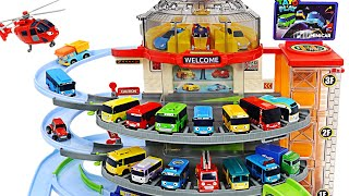 Exciting Tayo Round and Round Control Parking Tower Parking Lot Play | PinkyPopTOY