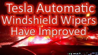 Tesla's Auto Windshield Wipers Have Improved