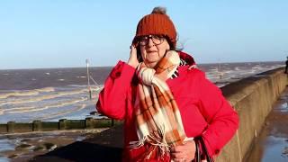 Storm Ciara Hunstanton, Cliffs, Waves, The Golden Lion Hotel, Sensory Park & Beach Walk, Feb 2020