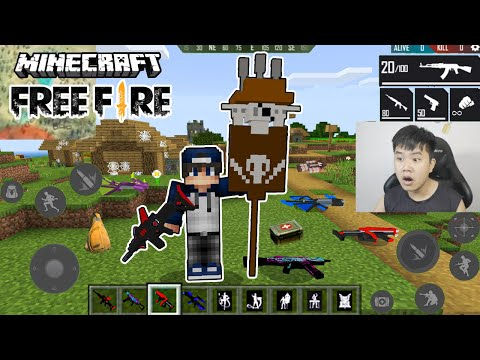 Minecraft Free Fire, bqThanh Cùng Ốc Thử Dùng Các Loại Súng và Điệu Nhảy FF Sẽ Như Thế Nào ?