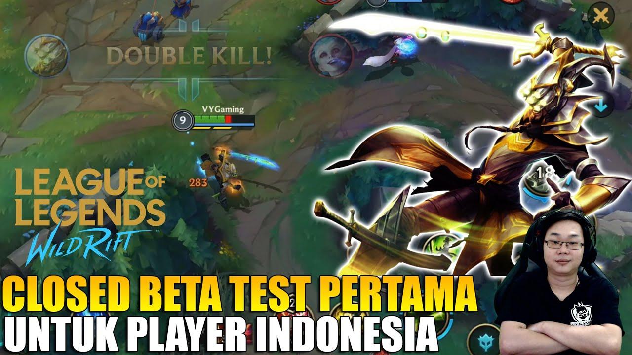 CBT LEAGUE OF LEGENDS WILD RIFT PERTAMA UNTUK INDONESIA - LANGSUNG KITA REVIEW MASTER YI❗️