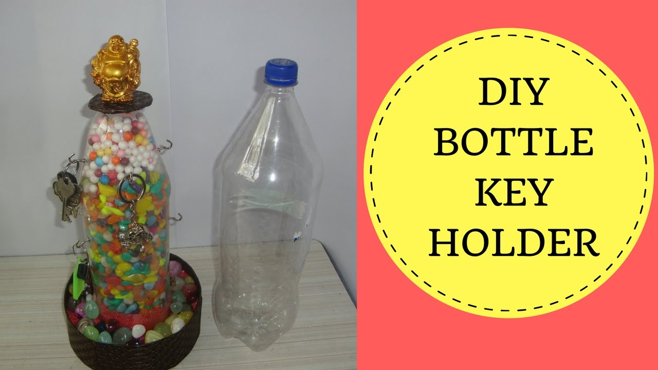 craft with plastic bottle. key holder from waste plastic bottle ...