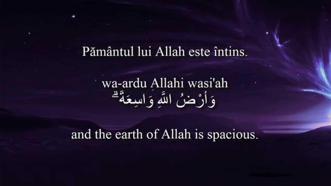 Holy Quran Surat Az Zumar 399 10 Romanian And English Translation Arabic Transliteration