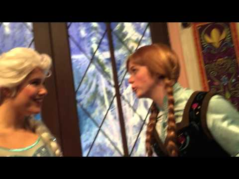 Anna and Elsa at Disney California Adventure - February 8th, 2015