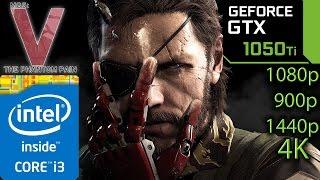 Metal Gear Solid V / 5 The Phantom Pain: GTX 1050 ti - i3 6100 - 1080p - 900p - 1440p - 4K