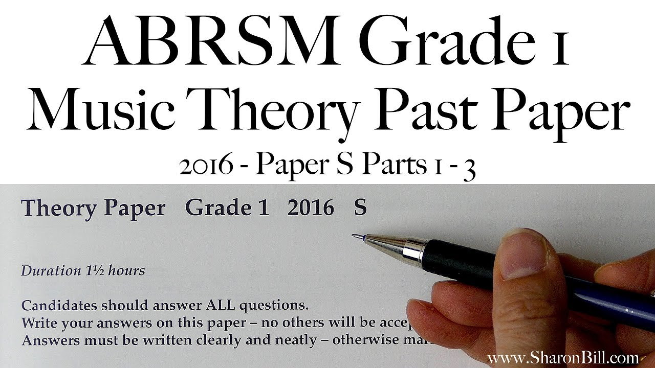 ABRSM Music Theory Grade 1 Past Paper 2016 S with Sharon Bill
