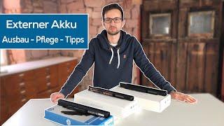 Externen AKKU austauschen - Battery Care - Tipps & Hinweise