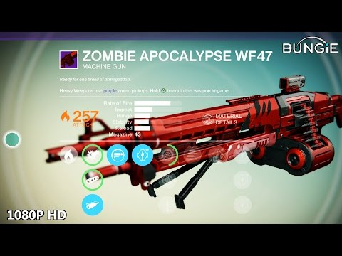 Destiny Leveling Up - Legendary ZOMBIE APOCALYPSE Machine Gun & EXOTIC MIDA Scout Rifle