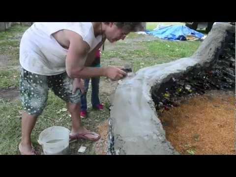 Wine Bottle Garden Wall Youtube